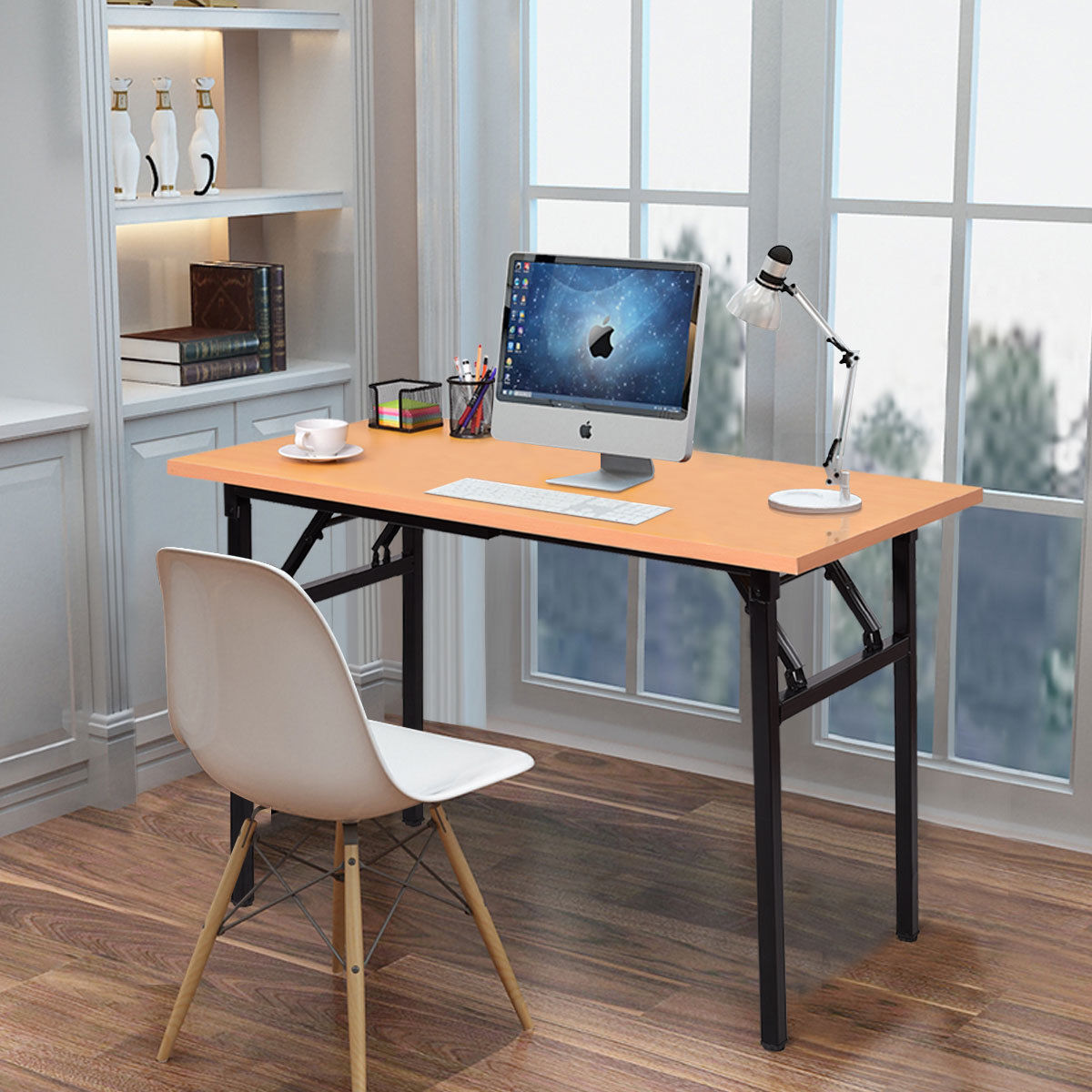 Computer Desk Pc Laptop Wood Table Home Office Study: Giantex Portable Folding Computer Desk PC Laptop Table