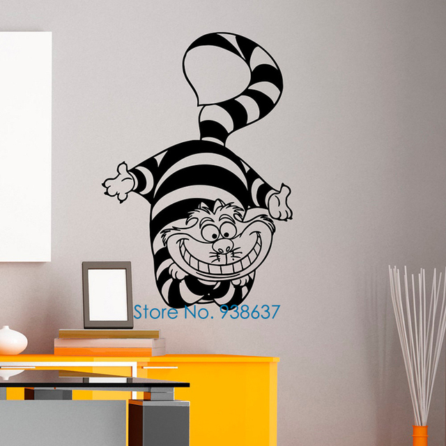 Alice In Wonderland Wall Art aliexpress : buy alice in wonderland wall art stickers bedroom