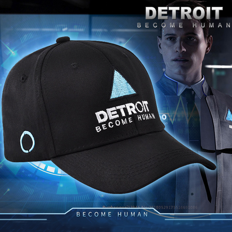 Game Detroit : Become Human Cosplay Costume Hat Connor Cap RK800 Cosplay Props Adult Baseball Cap