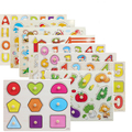 Bebê brinquedos de madeira Montessori materiais forma de correspondência aprendizagem ABC preschool berçário brinquedos jigsaw puzzle brinquedos educativos