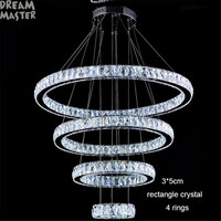 Modern LED Crystal Chandelier Lights Lamp For Living Room Cristal Lustre Industrial Chandeliers Lighting Villa Crystal