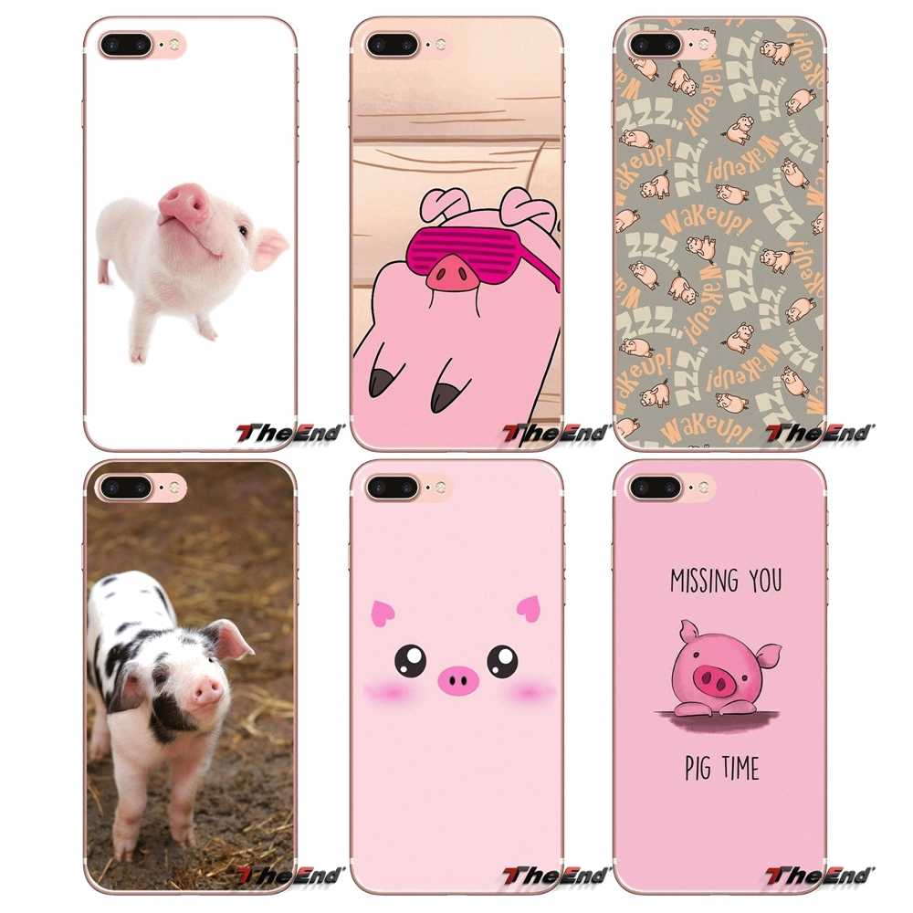 Cell Phone Cases Covers For HTC U11 One M7 M8 A9 M9 M10 E9 Desire 630 530 626 628 816 820 Motorola G G2 G3 funny cute lovely pig
