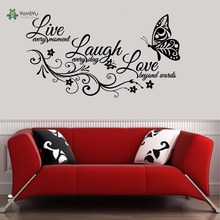 YOYOYU butterfly Wall Decal Vinyl Sticker Home Decor Live Laugh and Love Art Repetable Beauty Self Adhesive Film YO235