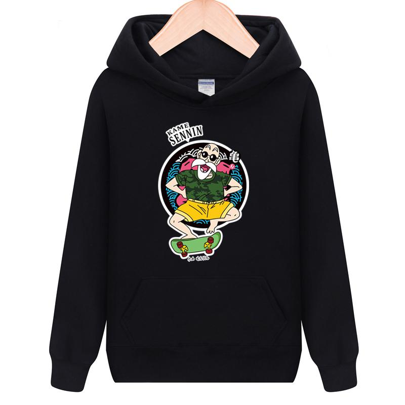 High-Q Unisex DRAGON BALL Son Goku Harajuku Master Roshi Pullovers Hoodies Hiphop Kame Sennin Jacket Coat Sweatshirts