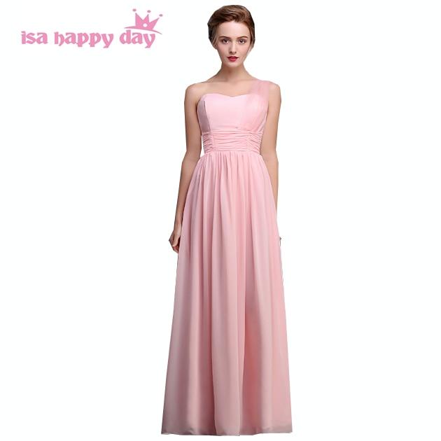 Women Clothing Pink Long Chiffon Mariage Floor Length Elegant Modest
