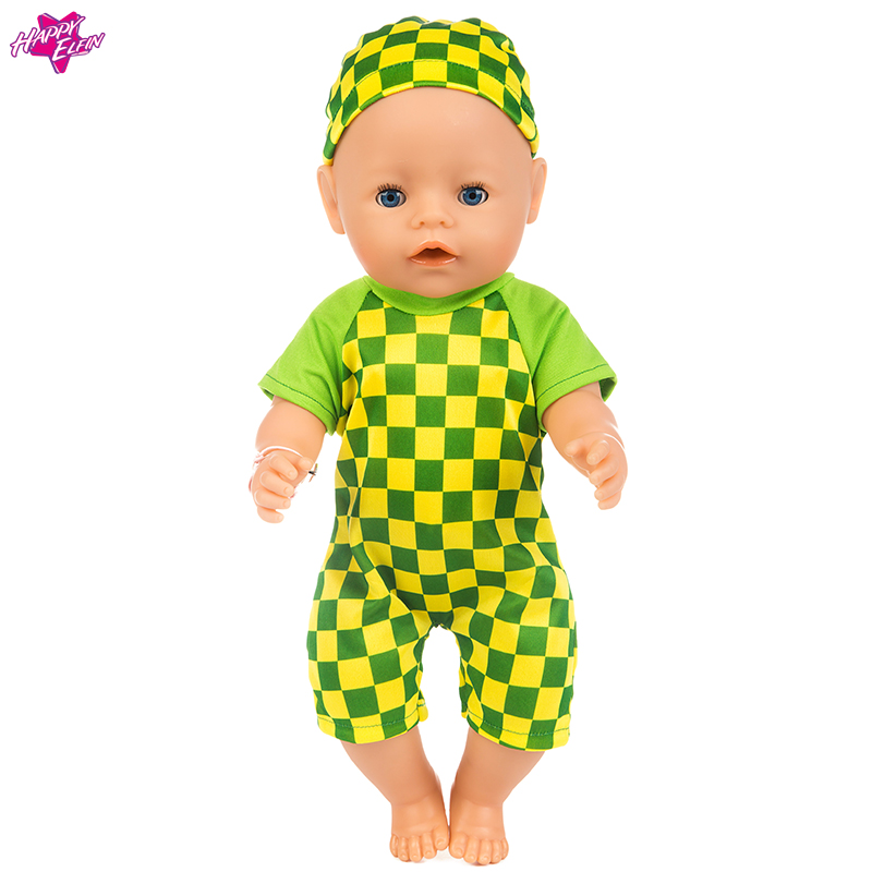 2017 New Set Doll Baby New Born Clothes Wear Fit 43cm Doll