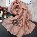 2017 high quality fashion New Design Ethnic Style Cotton Linen Lace Scarf Shawl soild long soft Muslim Hijab Neck Warmer Women