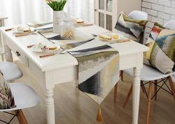 Fyjafon camino de mesa pintura al óleo camino de mesa moderna corredores de poliéster impresión geométrica Home Hotel Camino en la Mesa