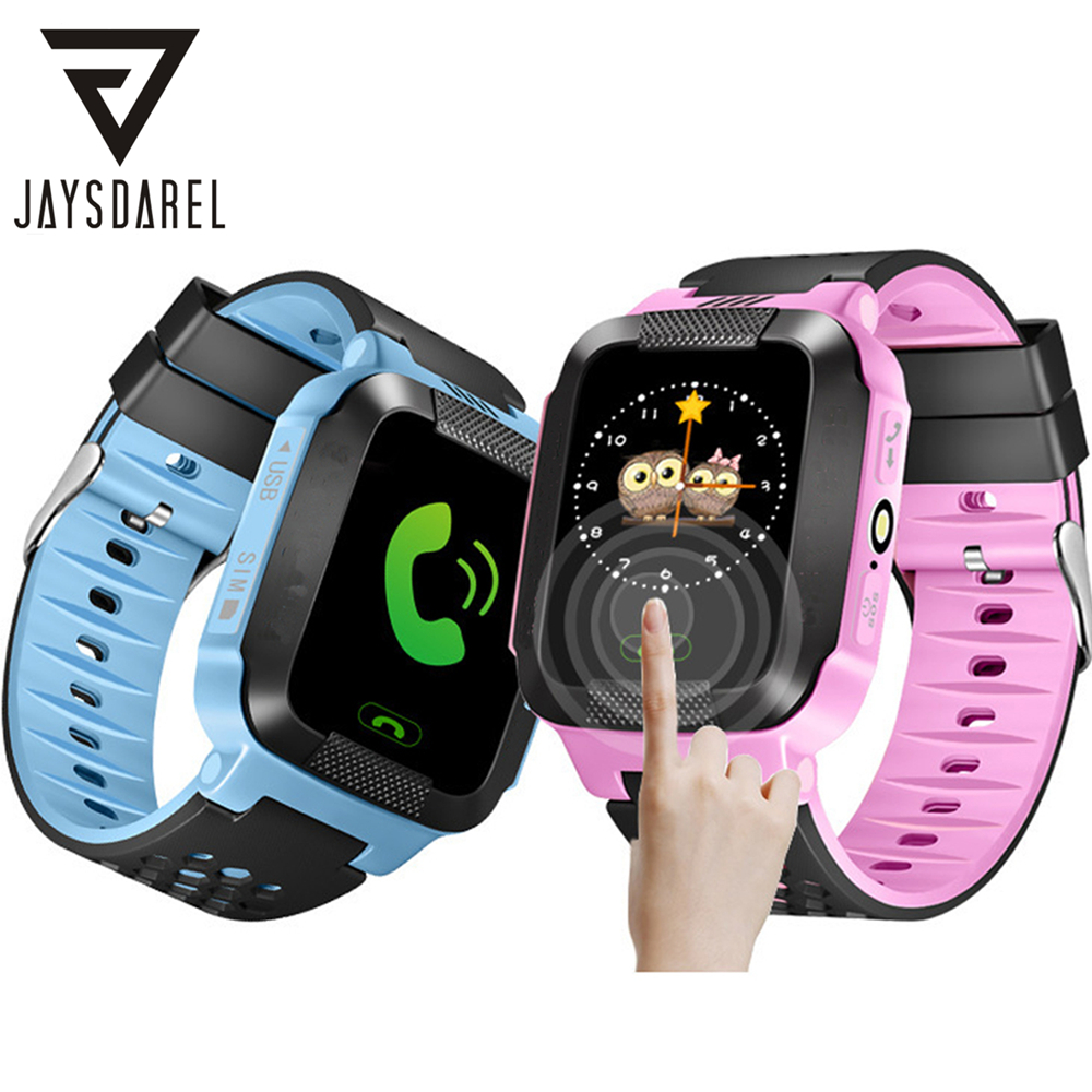 JAYSDAREL Q528 Y21 Kids GPS Tracker SOS Call Safe Smart Watch Child Baby Location Device Remote Monitor PK Q50 Q90
