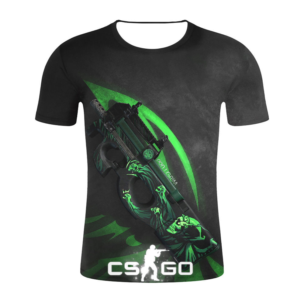 CS GO Gamer   T     Shirt   2019 Hot Counter Strike Global Offensive CSGO Men Tshirt Top Quality Brand Clothing Funny 3D   T  -  Shirt   Tee