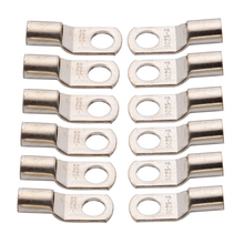 цена на 12PCS 25mm2 - 8mm Copper Ring Terminals 3AWG 5/16 inch Hole Wire Battery Terminals Connector Electrical Cable Lugs Eyelet