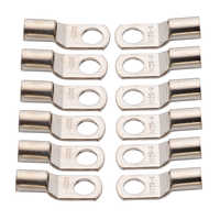 12PCS 25mm2 - 8mm Copper Ring Terminals 3AWG 5/16 inch Hole Wire Battery Terminals Connector Electrical Cable Lugs Eyelet