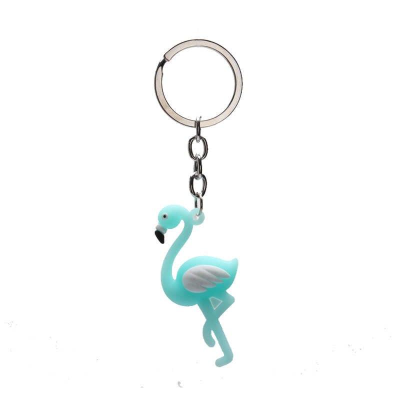 Partito popolare Forniture KeyChain Del Fumetto di Vendita Calda 1 PC di Alta Qualità Alla Moda del Regalo Bambini Evento Creativo Baby Shower Flamingo Silicone