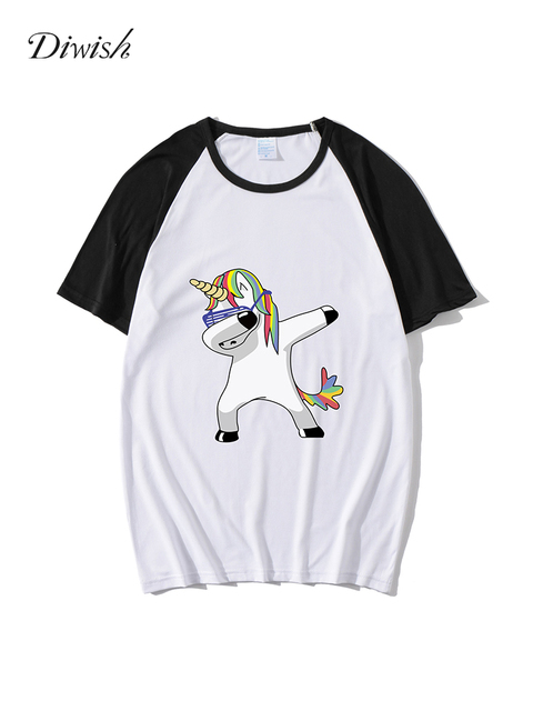 Diwish Women Summer Tops 2019 Harajuku Aesthetics Tshirt Short Sleeve Cartoon Print Tee Top Casual Plus Size Tshirt Femme