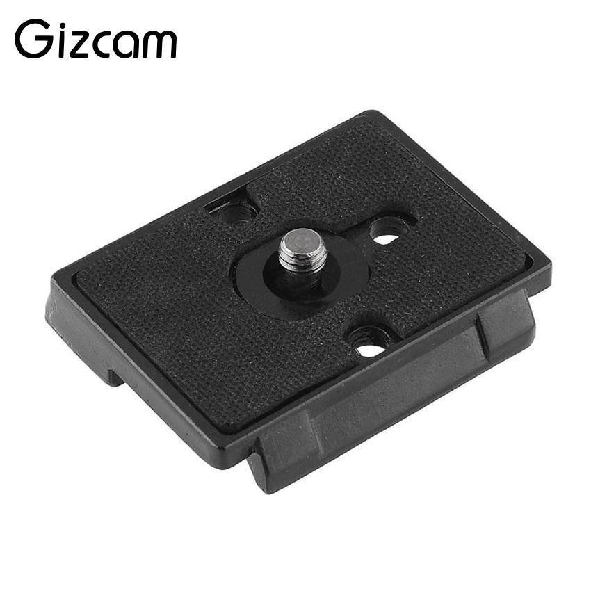 Gizcam QR Plate Quick Release Plate Plate Tripod Monopods Replacement for Manfrotto Camera 200PL-14 1/4 Screw Hole