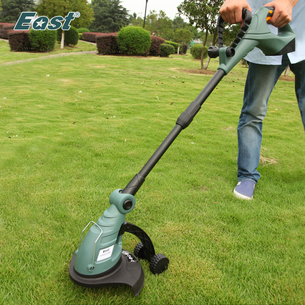 East garden power tools 18v li ion battery cordless grass trimmer reel mower lawn mower - Lawn mower for small spaces decor ...