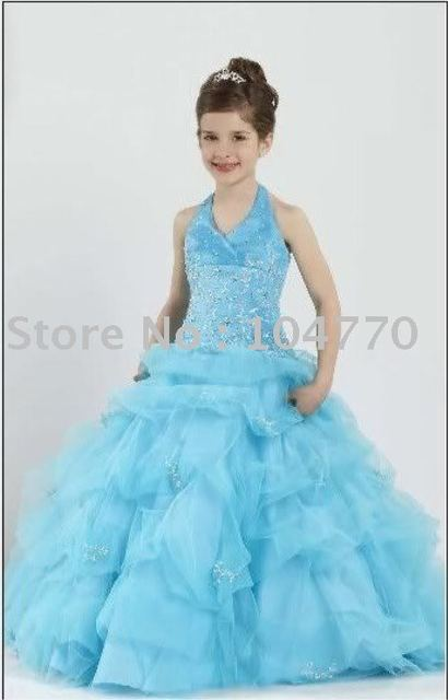 Free Shipping wholesale/retail Flower girl dress /beauty queen kids ...