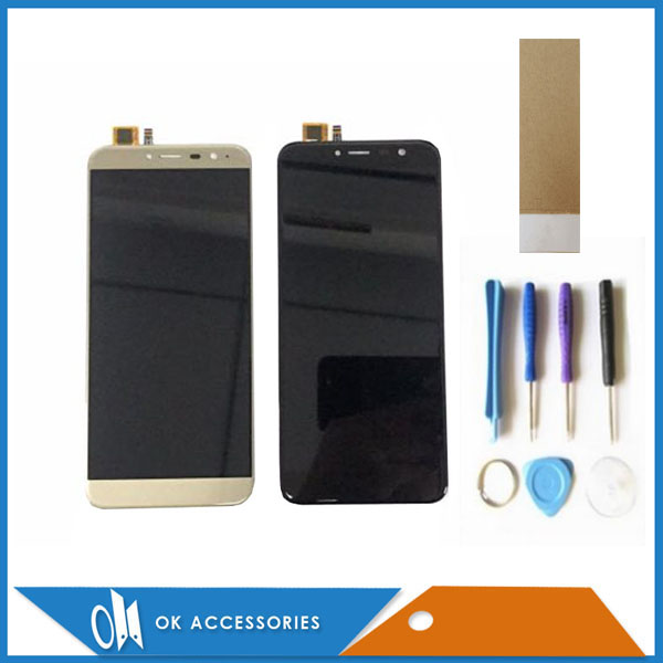 Gold Black Color For Cubot X18 LCD Display+Touch Screen Digitizer Assembly Replacement With Tools & Tape