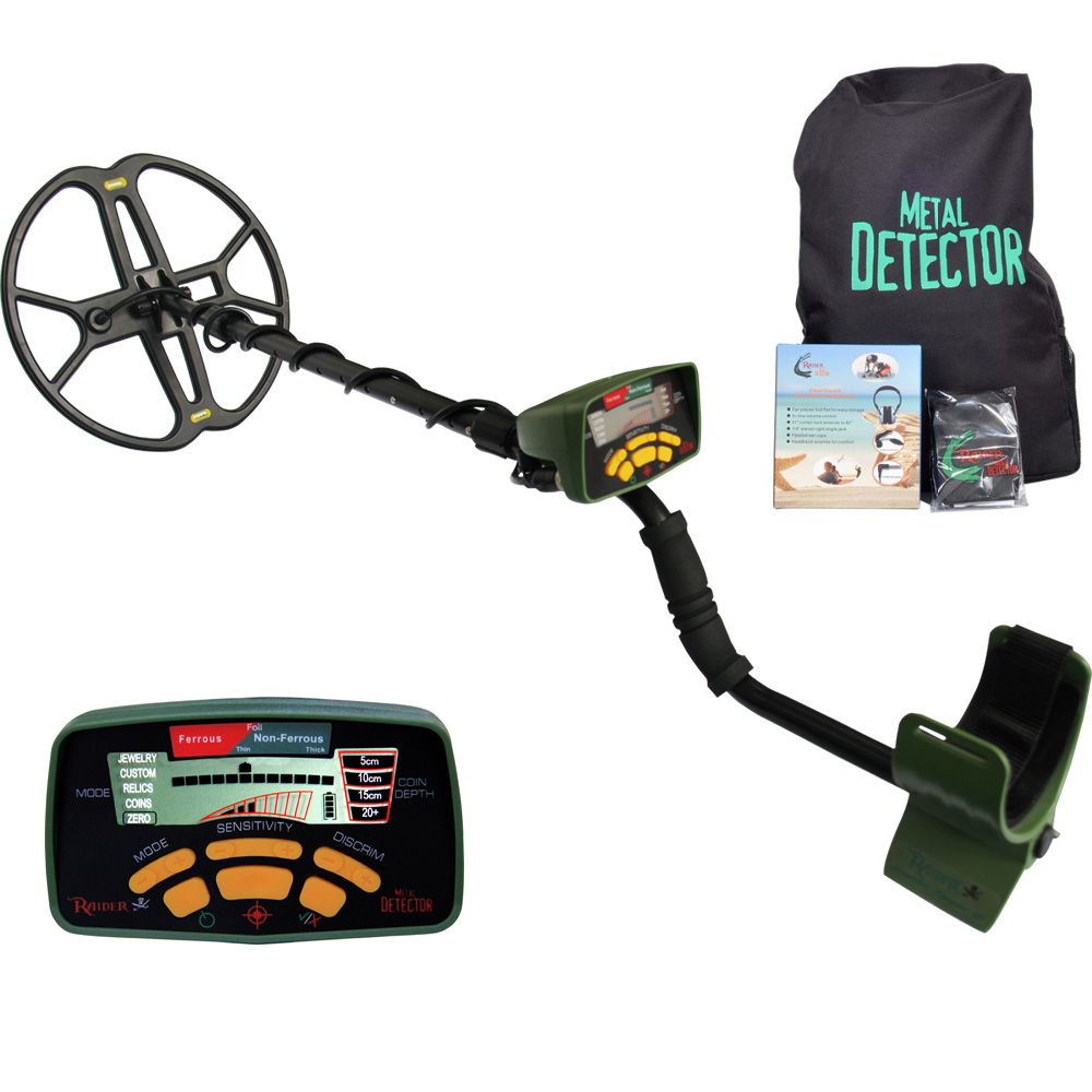 MD 6350 Metal Detector with 12 inch Butterfly Coil Waterproof Gold Detector Treasure Hunting Professional Metal