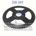 68 teeth 25H 8mm Factory direct wholesale mini pocket bike rear sprocket 68 teeth for 25H chain/Free shipping