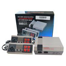 Mini-håndholdte spilkonsol TV-videospilkonsol til Nes-spil med 500 forskellige indbyggede spil PAL & NTSC
