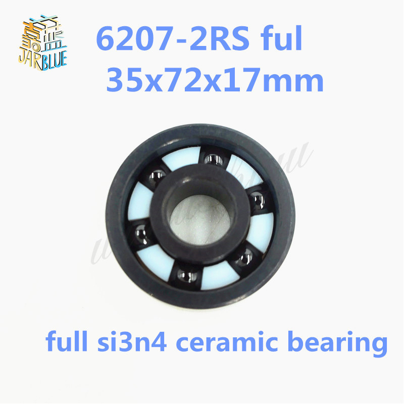 Free shipping 6207-2RS full SI3N4 ceramic deep groove ball bearing 35x72x17mm 6207 2RS ceramic bearing 6201 2rs full si3n4 ceramic deep groove ball bearing 12x32x10mm 6201 2rs