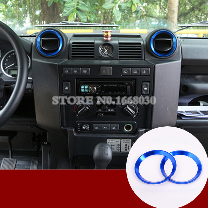 Blue Inner Center Air Vent Outlet Cover For Land Rover Defender 90 110 2009-2015