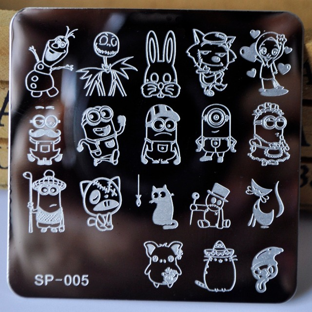 nail stamping plates cartoon stamping plate  SP design nail art image plate Equipment Stamp Stamping Plates Manicure Template