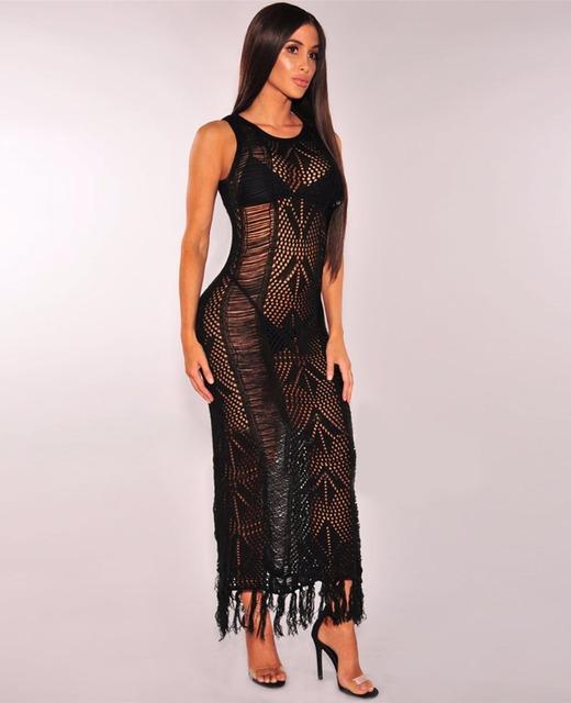 Bikini Cover Up Lace Hollow Crochet