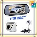 Sistema de aparcamiento 7 Lcd Monitor del espejo de coche del estacionamiento de DVD pantalla del vehículo + CCD cámara frontal cámara de visión trasera cámara de reserva del estacionamiento