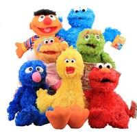 Rua sésamo Brinquedos De Pelúcia 7 Estilos 30-40 cm Bolinho Elmo Grover Zoe & Ernie Grande Pássaro Stuffed Plush Toy Boneca Presente de Natal para Crianças