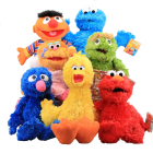 Sesame Street Plush Toys 7 Styles 30-40cm Elmo Cookie Grover Zoe& Ernie Big Bird Stuffed Plush Toy Doll Xmas Gift for Children