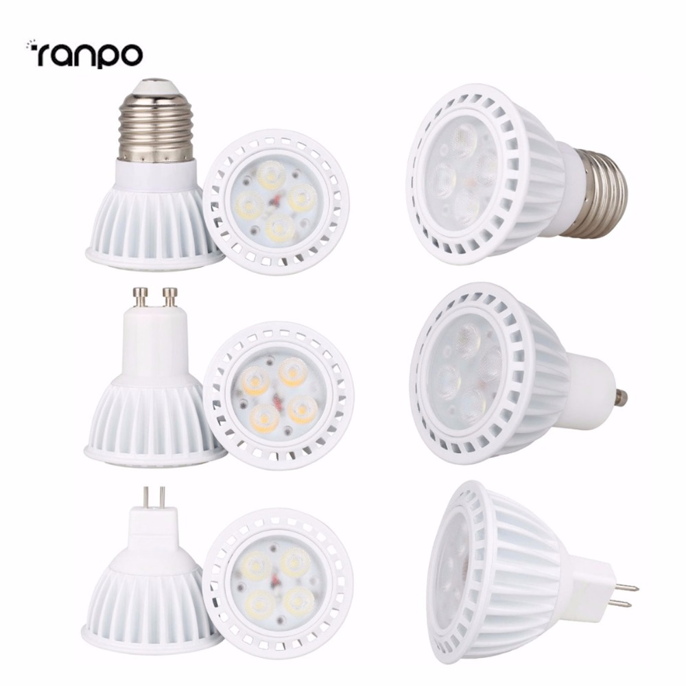 Smart IC Dimmable 8W 3030 SMD LED SpotLights E26 E27 GU10 MR16 Bulbs Ceiling Lamp AC 110V 220V DC 12V High Power Recessed Light