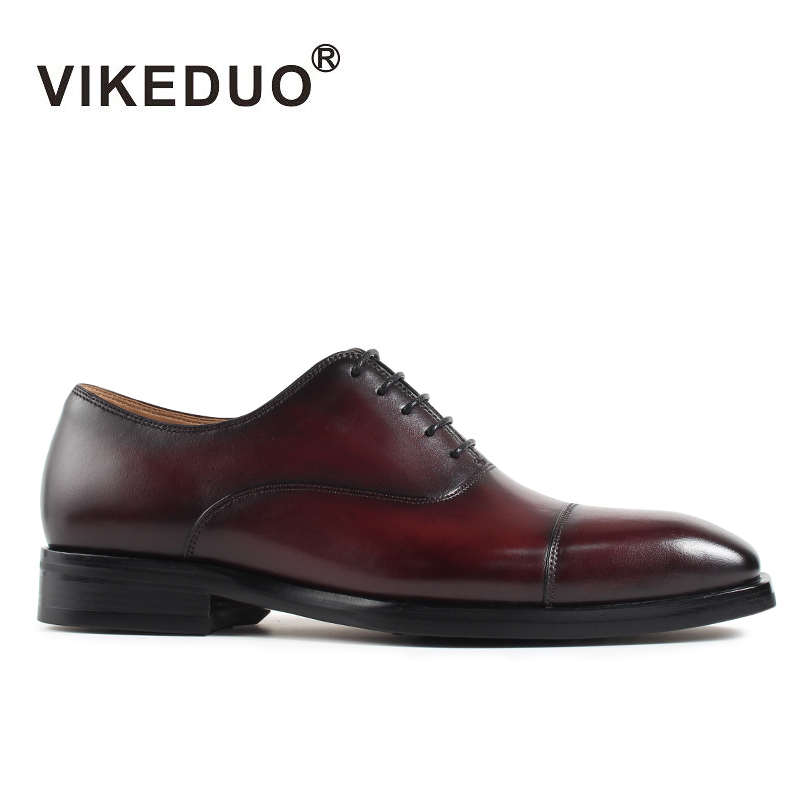 VIKEDUO Luxury Brand Summer Derby Nan Shoes Launch Pure Handmade Dress Casual Male Footwear Genuine Leather Men's Oxford Shoes huifengazurrcs new pure handmade casual