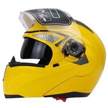 Nueva Moto de Calle Motocicleta Del Casco de Doble Visera con Escudo con Material ABS Transparente con Forro de Esponja de Presión en Caliente
