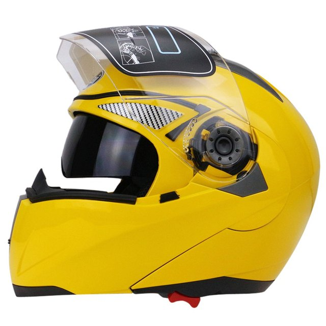 2630d6d9 On Sale Motorcycle Helmet Full Face Dual Visor Street Bike with Transparent  Shield Hot Pressure Sponge Liner with ABS Material