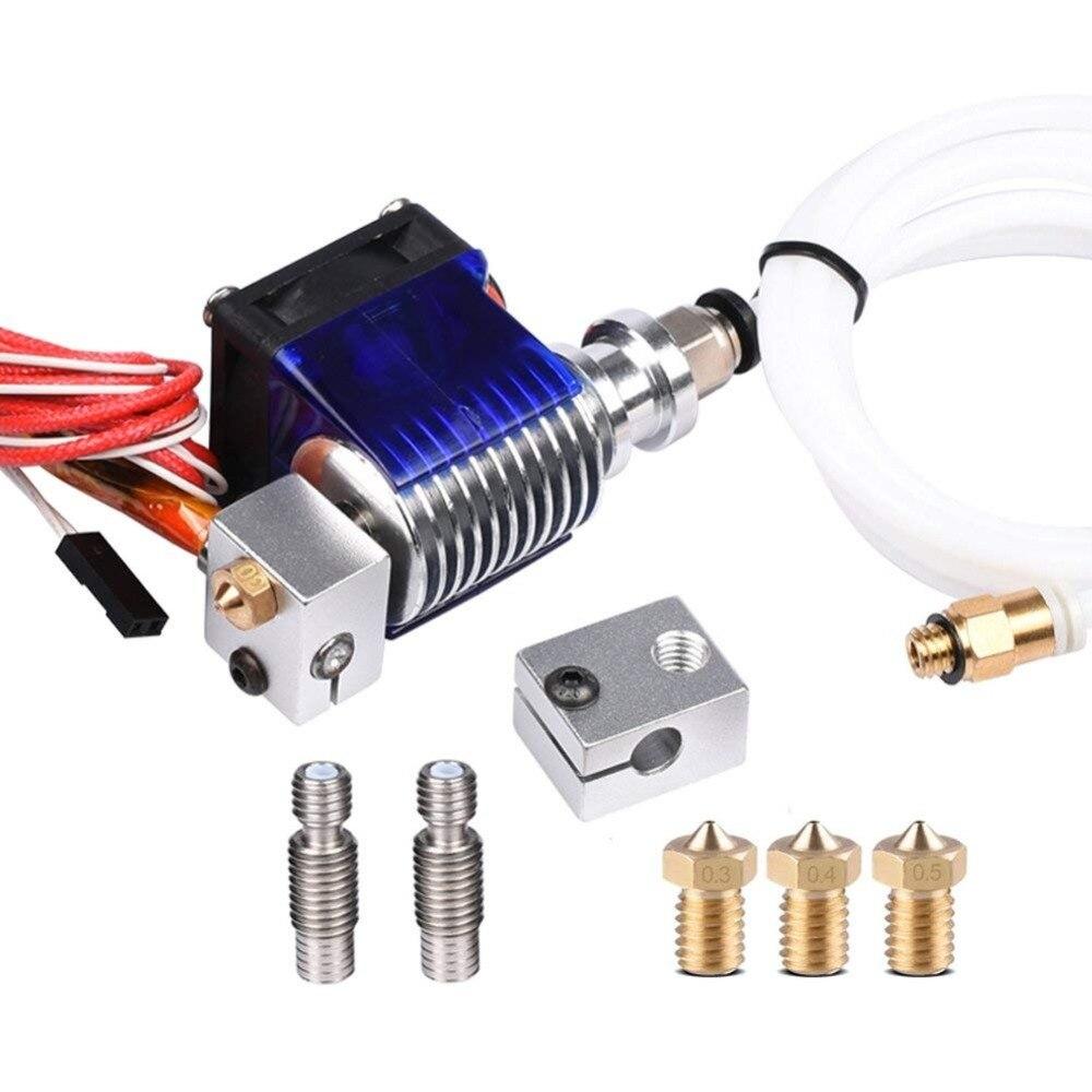 V6 j-head Hotend Kit d'extrudeuse 3D imprimantes pièce support bloc thermistances buse 0.4mm 1.75mm Filament Bowden pièces ventilateur de refroidissement