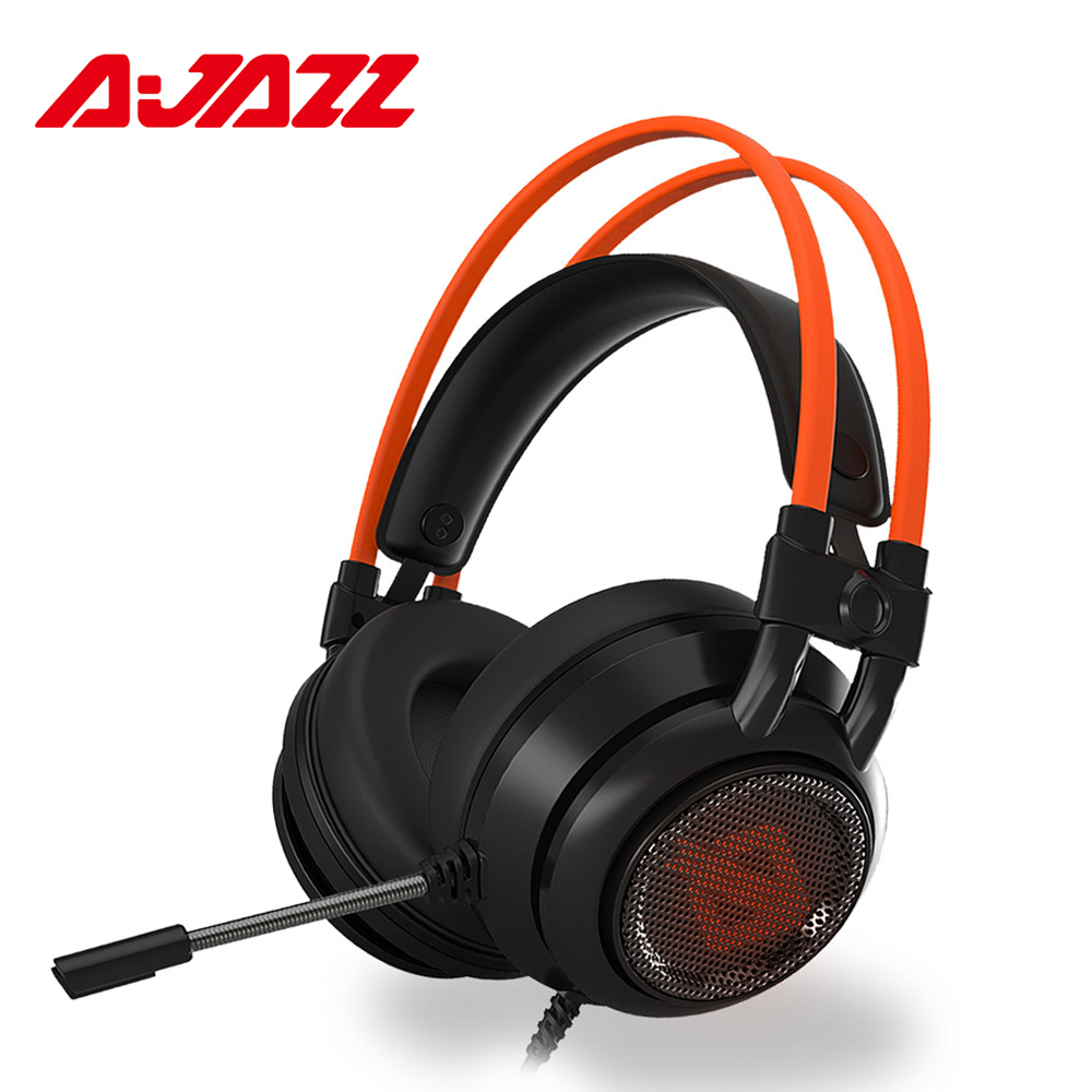 Ajazz AX391 Wired Gaming Headset Game Earphone Computer Headphones With Microphone Led Light Headphones For Computer PC Laptop