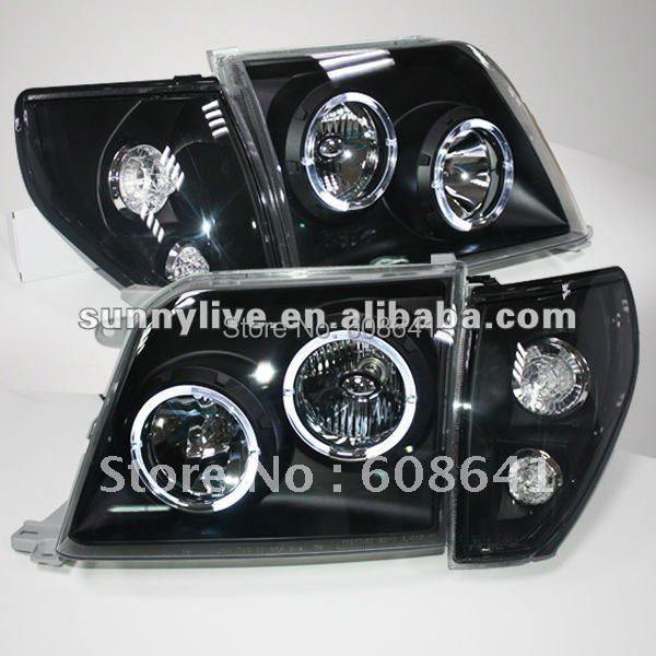 For TOYOTA Prado 3400 FJ90 LC90 Head Lamp Angel Eyes 98 to 03 Black Type