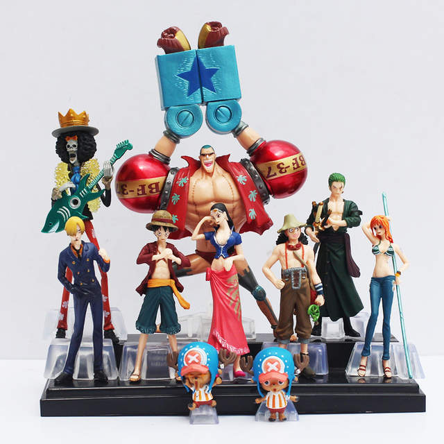 10pcs set Free Shipping Japanese Anime One Piece Action Figure Collection 2  YEARS LATER luffy 1f56184691cc