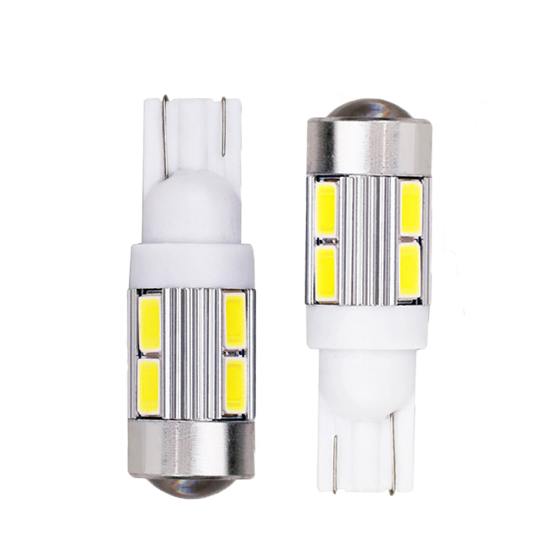 2PCS T10 W5W 168 194 10Smd Led Bulbs 5630 Auto Led Lamp 12V T10 Parking Reading Tail Cold White Car Light With Projector Lens loft it подвесной светильник 1832 loft1832c 2