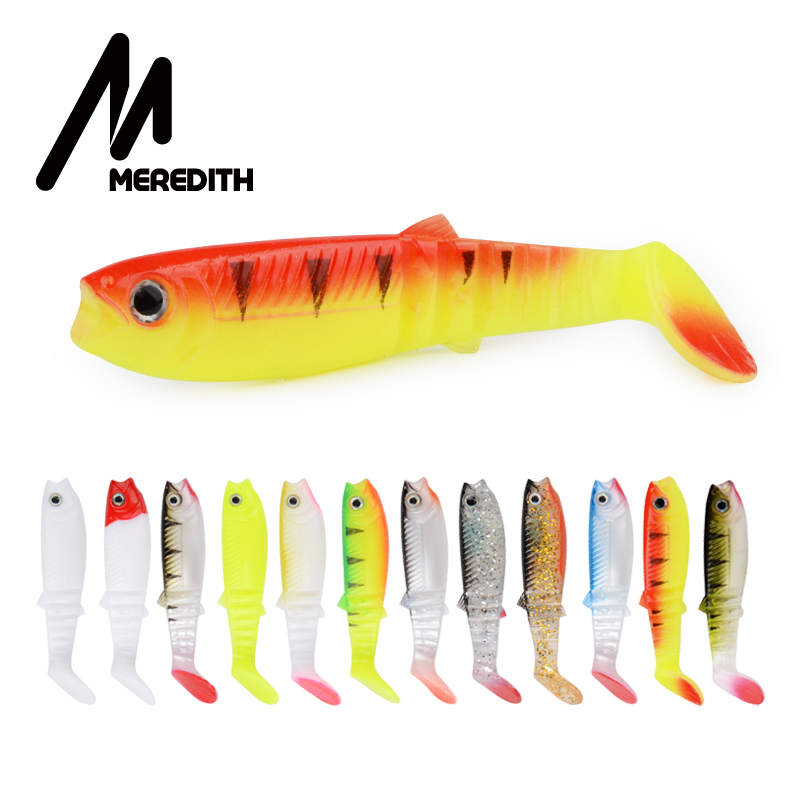MEREDITH cannibale 80mm 100mm 125mm leurres souples artificiels appâts de pêche leurre alose silicone appât T queue Wobblers
