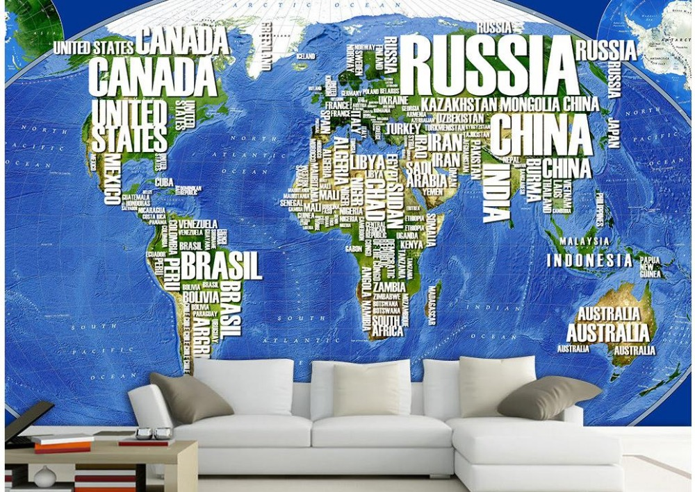 World Map Navigation Photo wallpaper custom wallpaper TV setting wall of sitting room sofa parded papel