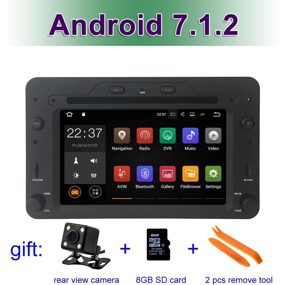 Android 7.1.2 Car dvd player for Alfa Romeo Spider Alfa Romeo 159 Brera 159 Sportwagon with GPS WIFI BT