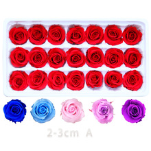 21PCS/BOX 2-3cm Preserved Flowers Rose Flower Immortal Valentines Day Gift Eternal Life Wholesale Level A
