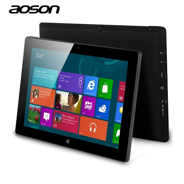 2016 marca windows10 tablet aoson r12-1 bomba de intel baytrail-t z3735g Cámaras duales de 10.1 pulgadas Quad Core Tablet IPS Pantalla HDMI 1.4