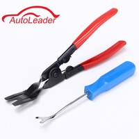 Car Door Card Panel Trim Upholstery Remover And Clip Removal Pliers Pry Tool Set