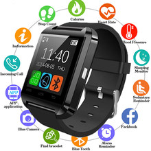 Men Smartwatch Bluetooth Smart Watch U8 For iPhone IOS Android Smart Phone Wear Clock Wearable Device Smartwatch PK GT08 DZ09(China)