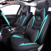 Housses de siège de voiture en cuir de luxe pour nissan almera classic g15 n16 juke x-trail t31 t30 qashqai patrouille note leaf teana terrano