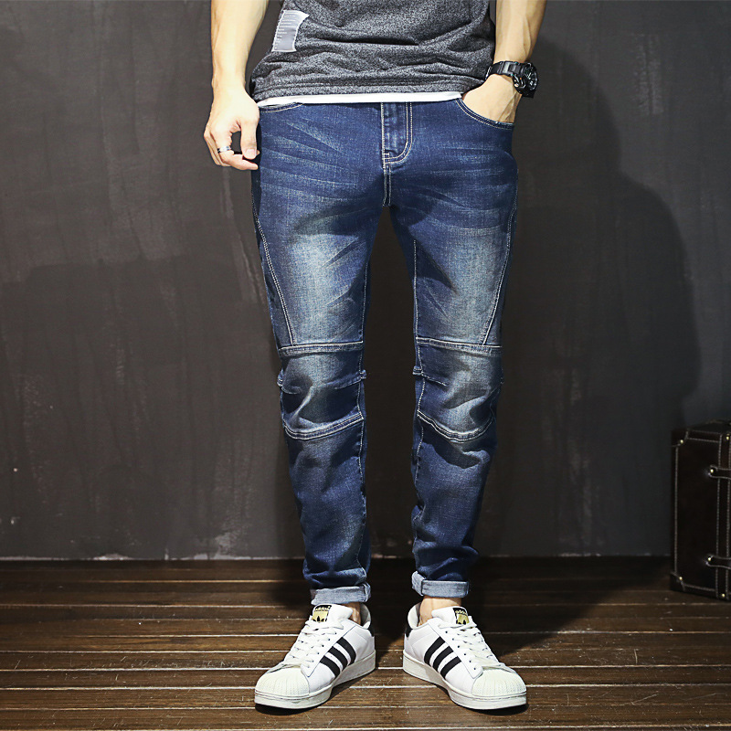 Classic Male Loose Casual High Waist Harem Pants Autumn New High Elastic Washed Jeans Large Size Fashion Street Denim Trousers women jeans autumn new fashion high waisted boyfriend street style roll up bottom casual denim long pants sp2096
